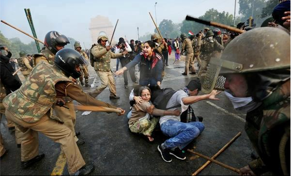 Police atrocities in New Delhi